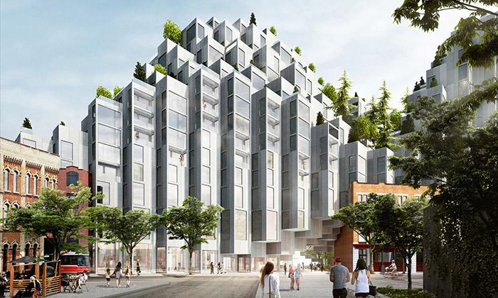 BIG staví vTorontu bytový dům stvarem pěti kopců
