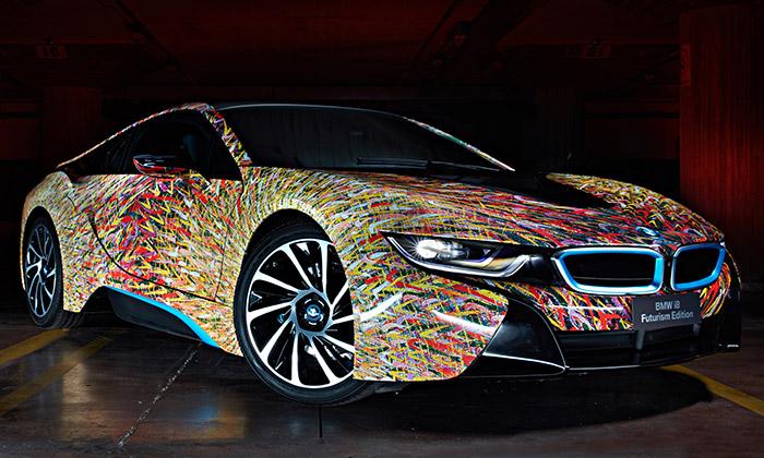 BMW kvýročí vytvořilo výtvarnou i8 Futurism Edition