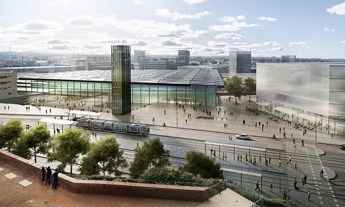 Brněnské hlavní nádraží sezmění dle UNIT architekti