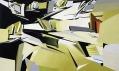 Ukázka zvýstavy Zaha Hadid vbenátském Palazzo Franchetti