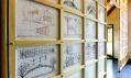Martin Rajniš a ukázka z výstavy První architektura