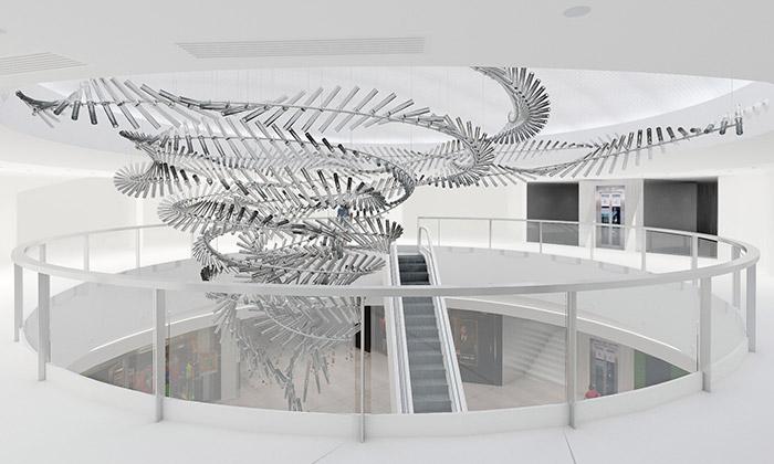 Vortex vPraze jenejvětší skleněná instalace vEvropě