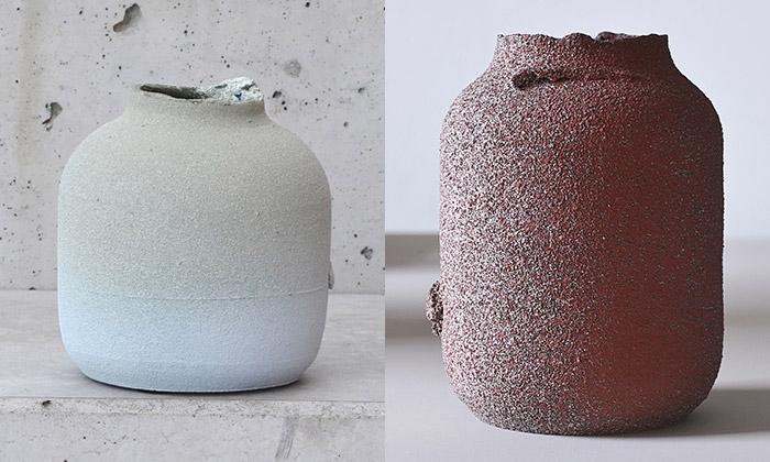 Roman Šedina navrhl vázy KA vyráběné vrstvením
