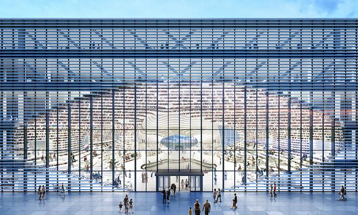 MVRDV staví vTianjinu knihovnu sezrcadlovou koulí