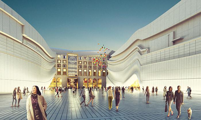 MVRDV navrhli Paradise City sezlatým vstupem
