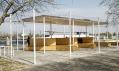 Pavilon na nábřeží Dněpru v ukrujinském městě Hola Prystan
