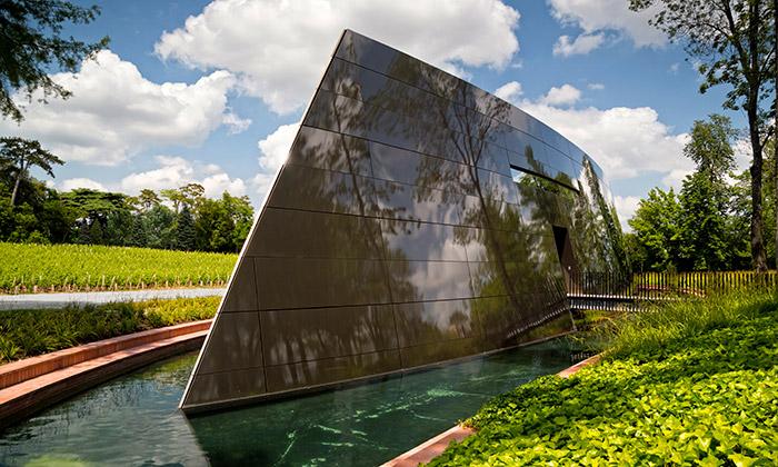 Starck postavil vinný sklep pro vinařství vBordeaux