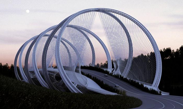 Penda navrhli pro Peking most zolympijských kruhů