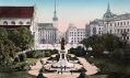 Moravské náměstí vBrně vroce 1892 spomníkem císaře Josefa II.