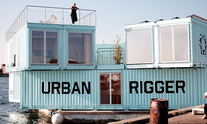 BIG navrhli zkontejnerů plovoucí studentské bydlení