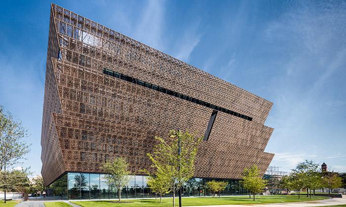 Muzeum africké historie ozdobila fasáda zfiligránu