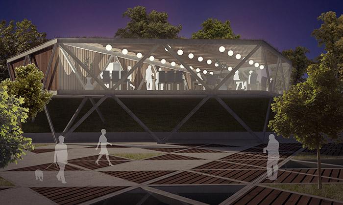 Ukázka z výstavy Budoucnost Smíchovské náplavky: M. Hlusička