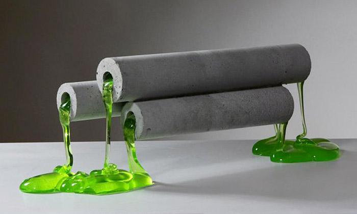 Ukázka z výstavy Glass v nás v ostravské galerii Industrial