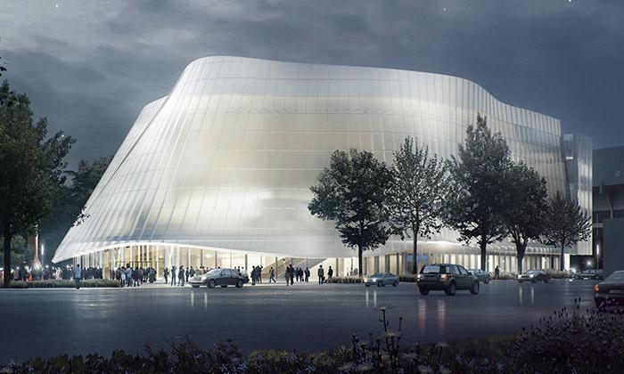 MAD staví vČíně budovu filharmonie zmléčného skla