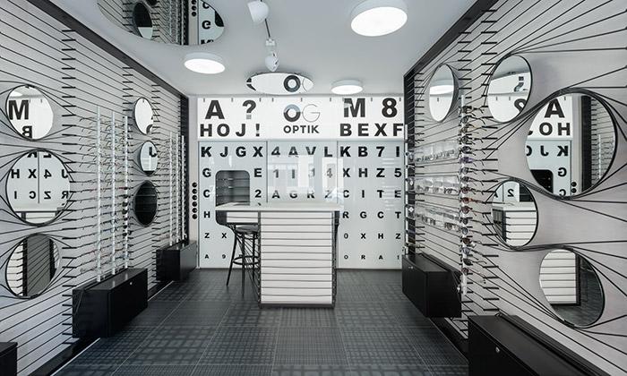 Optiku vMoravských Budějovicích zdobí motiv oka
