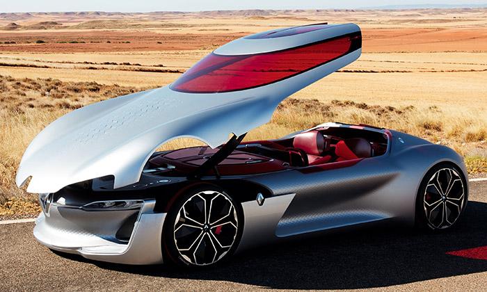 Renault Trezor jekupé bez dveří svyklápěcí střechou