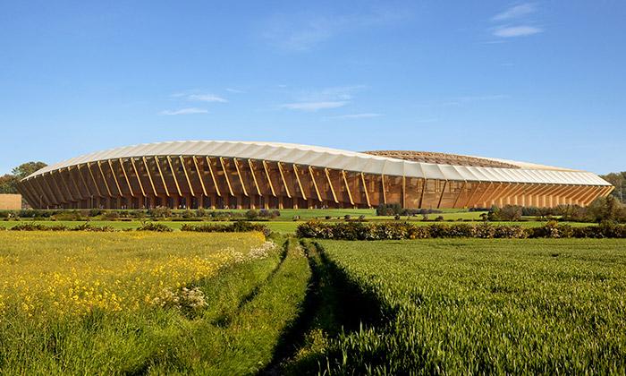 Zaha Hadid Architects postaví stadion pouze ze dřeva