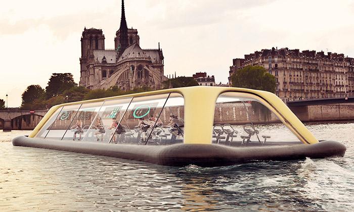 Paris Navigating Gym bude loď poháněná sportovci