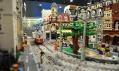 Pohled do expozice výstavy kostek Lego v Praze