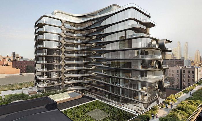 New York staví luxusní bytový dům podle Zahy Hadid