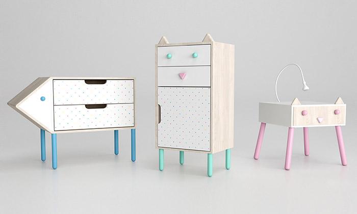 Hravý nábytek Dotties od designérky Zuzany Šislerové