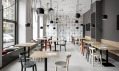 Café Záhorský vPraze 6 Dejvicích navržený architektkou Magdalenou Rochovou