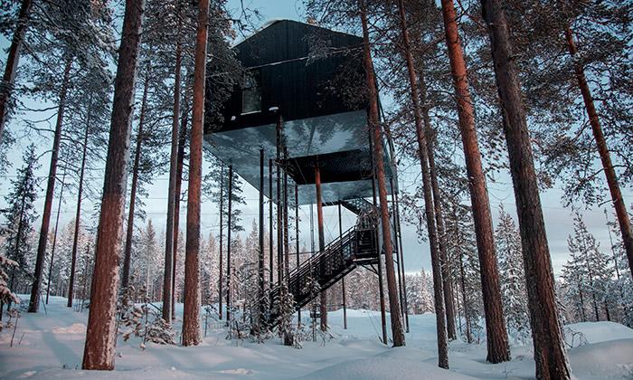 Snøhetta postavila vešvédském lese nový Treehotel
