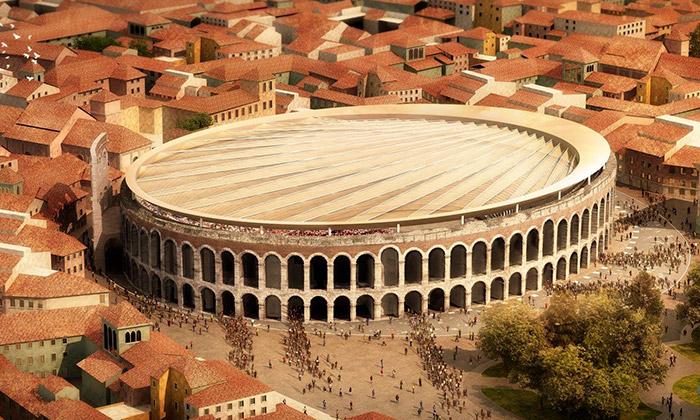 Veronský amfiteátr dostane novou stahovací střechu