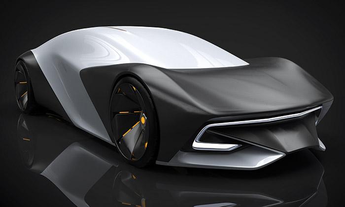Ukázka návrhů plzeňských studentů z výstavy Autonomní automobil