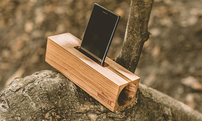 Woodyfier jepasivní český reproduktor ze dřeva