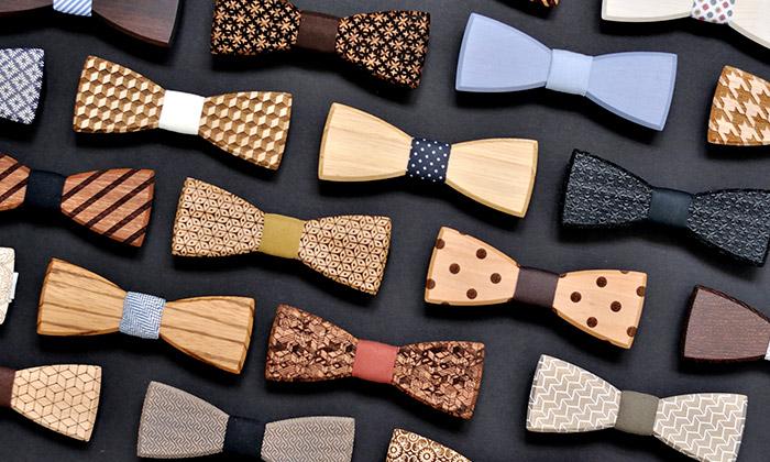 BeWooden vyrábí dřevěné motýlky pro pány idámy