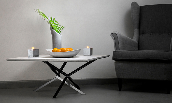 Delast Design vyrábí nejen zbetonu stoly adekorace