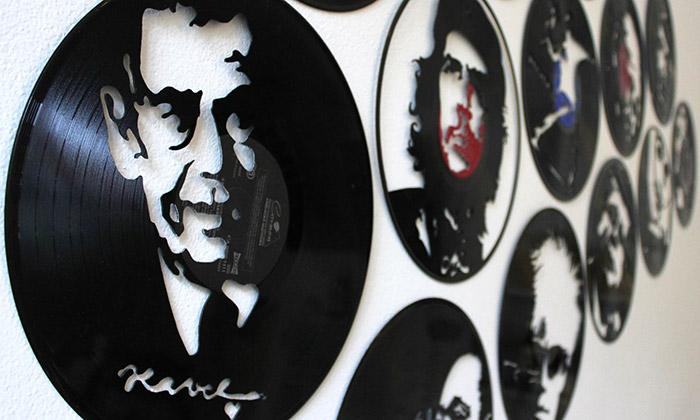 Ivan Jurečka vytváří portréty zvinylových desek