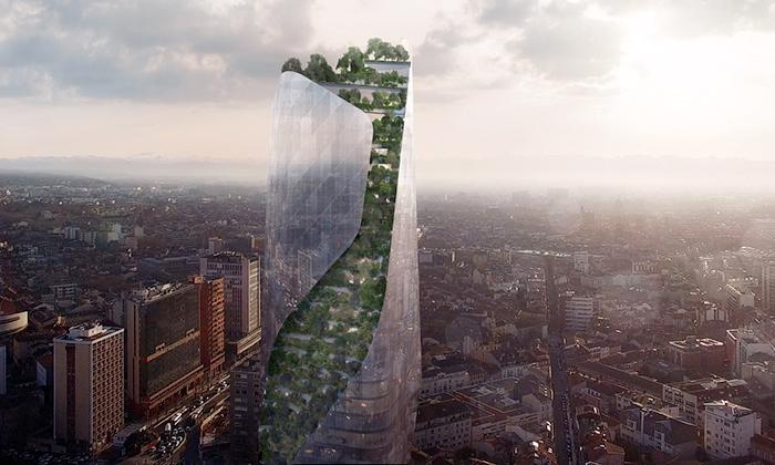 Libeskind staví veFrancii mrakodrap porostlý lesem