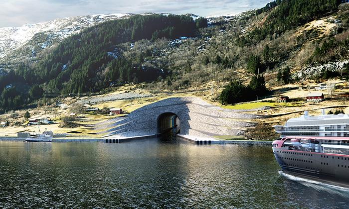 Snøhetta postaví vNorsku první tunel pro velké lodě