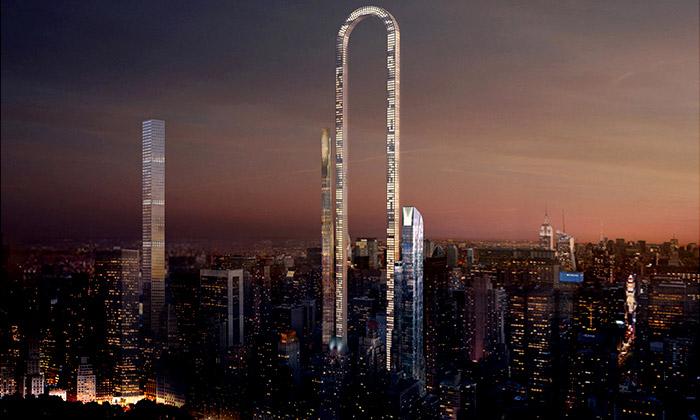Návrh mrakodrapu The Big Bend od studia OIIO