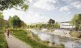 Architektonicko-krajinářská soutěž nábřeží řeky Svratky: 3. cena - CONSEQUENCE FORMA