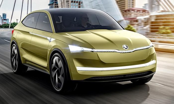 Škoda odhalila studii zcela elektrického vozu Vision E