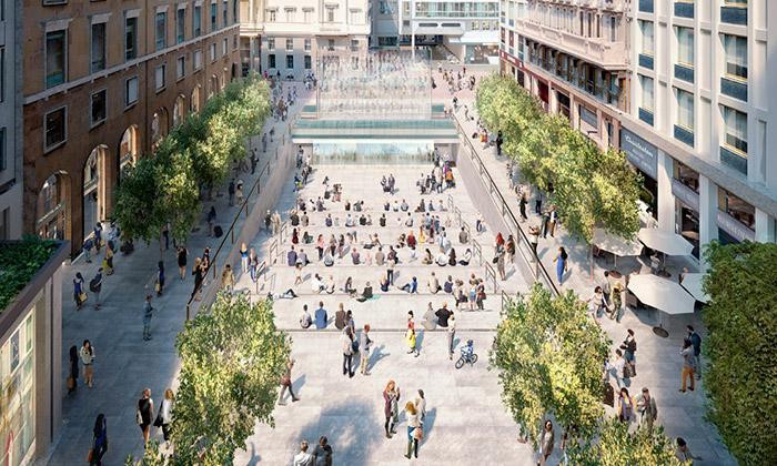 Apple přestaví milánské náměstí napodzemní Store