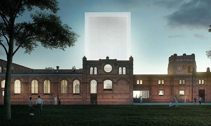 Vítězný návrh na konverzi budovy bývalých jatek na galerii