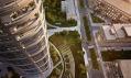 Multifunkční projekt Sky Park v Bratislavě od Zaha Hadid Architects