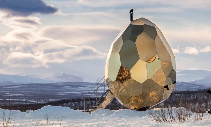 Venkovní sauna Solar Egg od studia Bigert & Bergström