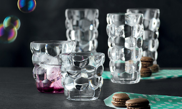 Jakub Pollág navrhl zbublin kolekci sklenic Bubbles