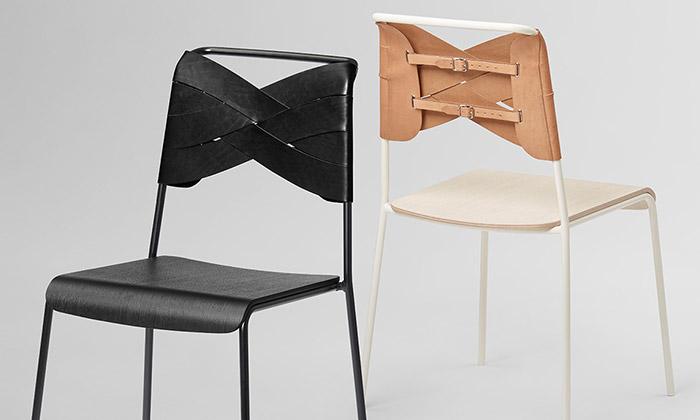 Švédka navrhla židli Torso skoženým korzetem