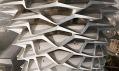 Ukázka zvýstavy ZHA Unbuilt návrhů Zahy Hadid ajejího studia