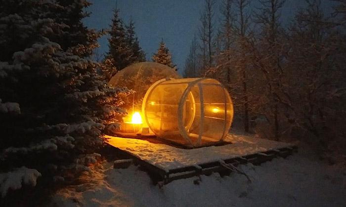 Hotel Bubbles naIslandu má pokoje zvelkých bublin