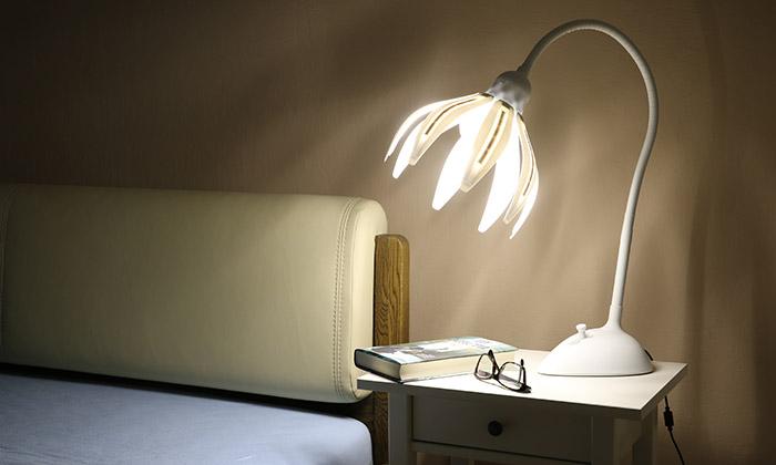 Česká 3Dtištěná lampa Flola