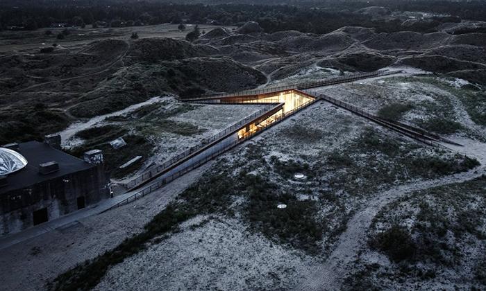 V Dánsku přestavěli starý bunkr namoderní muzeum