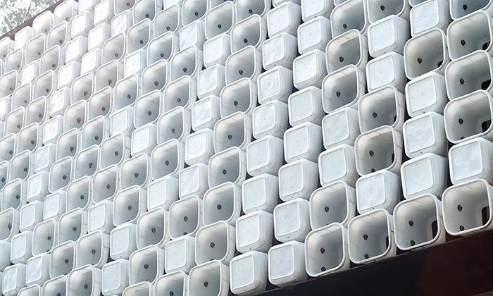 Knihovna vIndonésii má fasádu ze 2000 kbelíků
