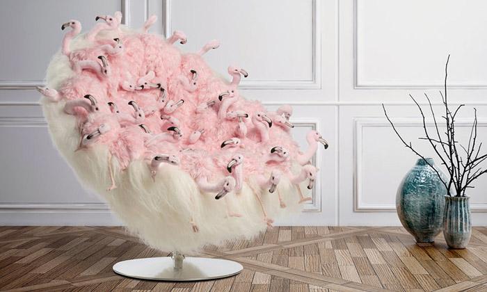 AP Collection jesedací nábytek šitý zplyšových zvířat